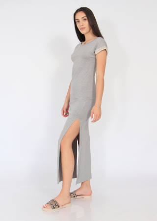 Rochie lunga cu crapaturi laterale1