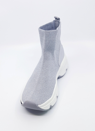 Tenisi ciorap textil lame silver1