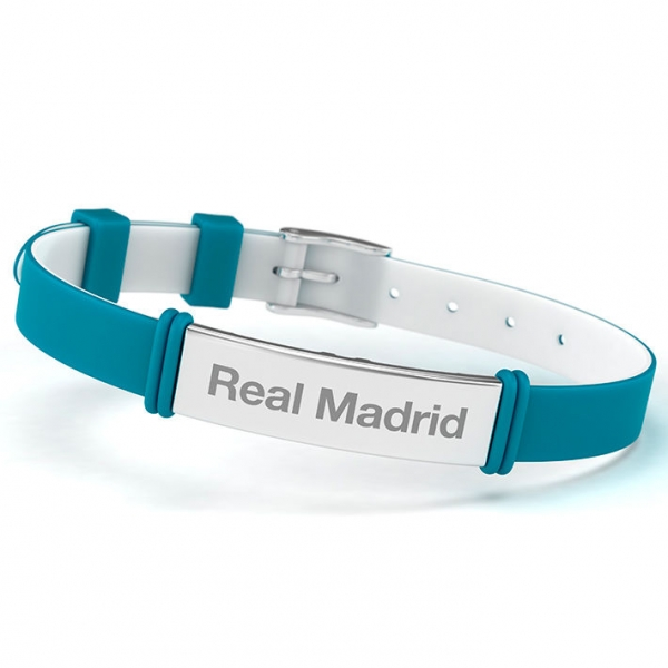 Bratara fashion Real Madrid, turcoaz, adult 0