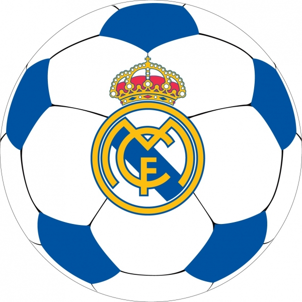 Pernuta Real Madrid, rotunda, 40x40cm 0