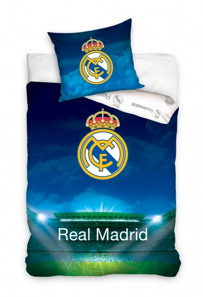 Lenjerie pat Real Madrid stadion, 2 piese, 160x200cm 0
