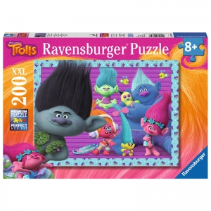 Puzzle Trolls XXL Poppy and Friends, 200piese