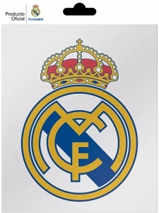 Sticker Real Madrid sigla, 14x11 cm