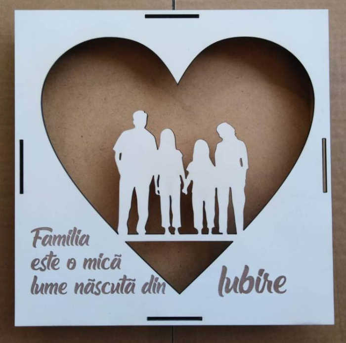Blanc Familie cu mesaj [0]