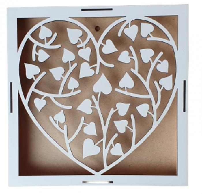 Blanc inima cu flori [0]