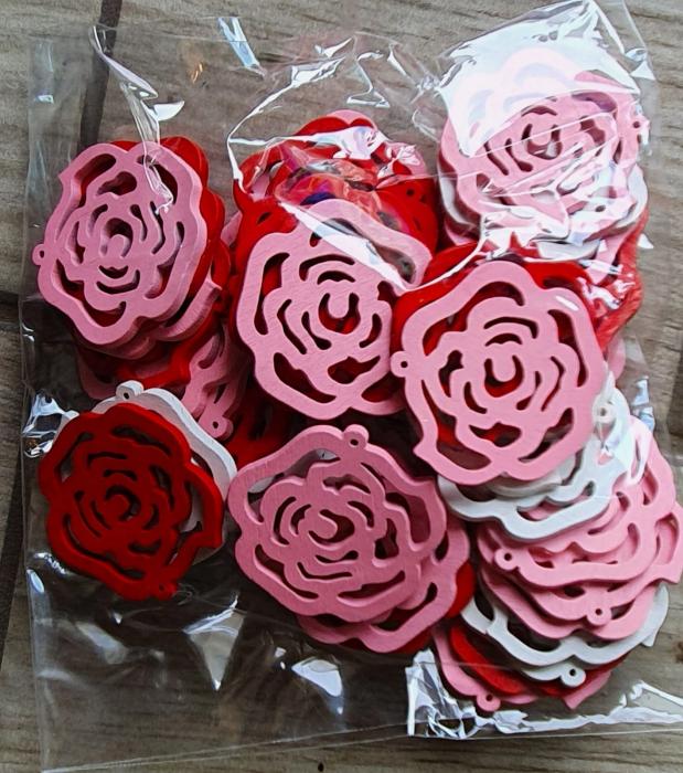 Trandafiri lemn 3.5cm [0]