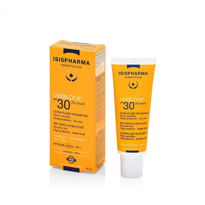 Fluid protector cu efect matifiant UVEBLOCK SPF30 Dry Touch [0]