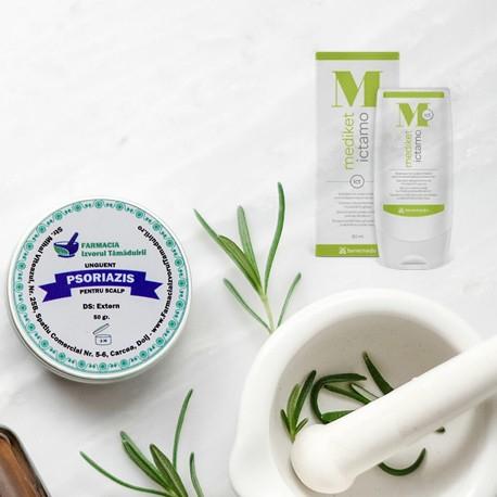Pachet promotional: Unguent de scalp pentru psoriazis + Sampon Mediket Ictamo 80 ml [0]