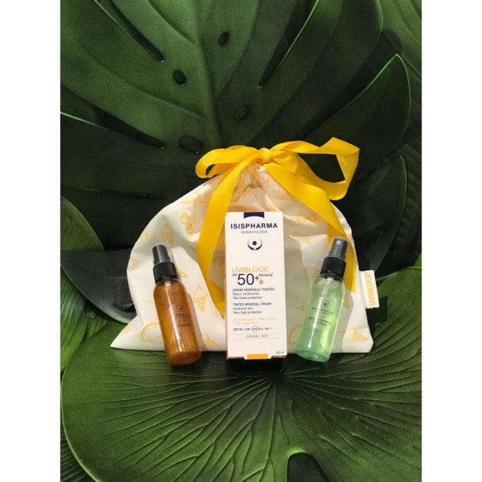 Pachet Uveblock SPF 50+ Mineral Isispharma, ulei de plaja pentru bronz sanatos si lotiune after sun calmanta [0]