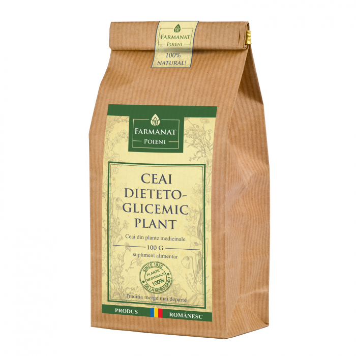 Ceai dieteto-glicemic-plant (pentru diabet, afectiuni ale pancreasului) - 100g 0