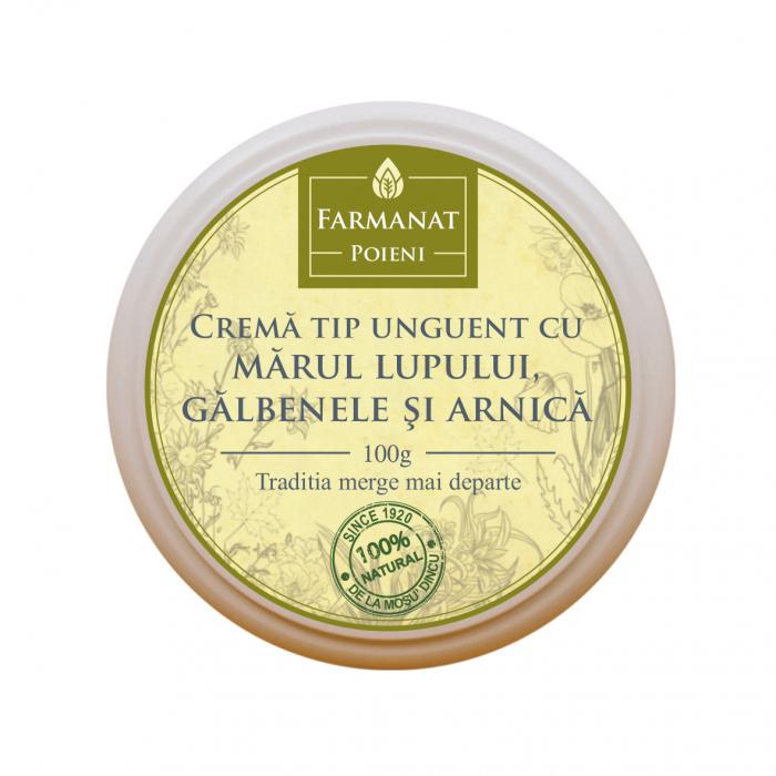 Crema tip Unguent cu Marul Lupului, Galbenele si Arnica [0]