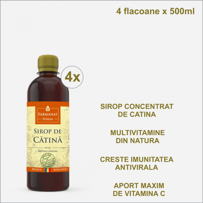 Vitaminizant natural Sirop de Catina 500 ml x 4 bucati [0]