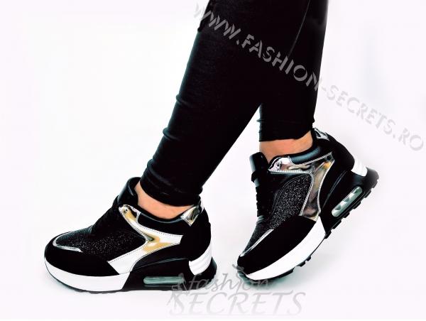 Incaltaminte Black Sparkle - Pantofi Sport 2