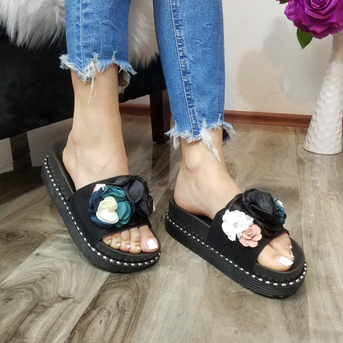 Incaltaminte Aisha Black- Papuci 0