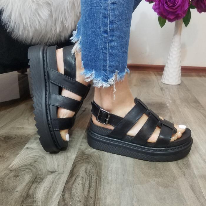 Incaltaminte Alka Black - Sandale 2