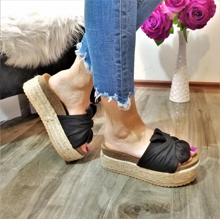 Incaltaminte Aniela Black - Papuci 1