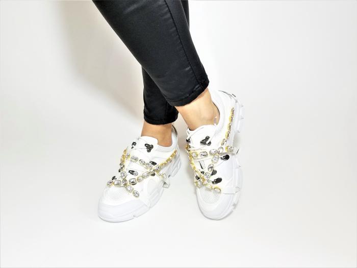 Incaltaminte Irina White - Pantofi Sport 2