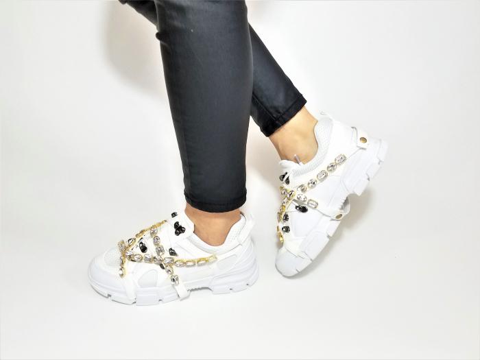 Incaltaminte Irina White - Pantofi Sport 3