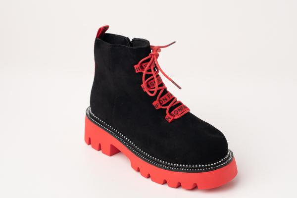 Incaltaminte Black Red - Ghete 1