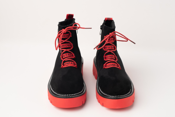 Incaltaminte Black Red - Ghete 2