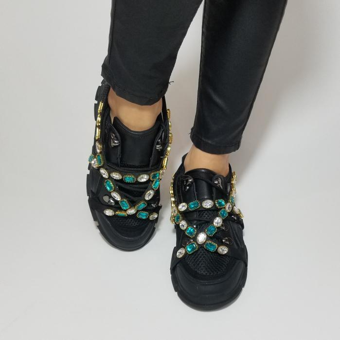 Incaltaminte Irina Black - Pantofi Sport 4
