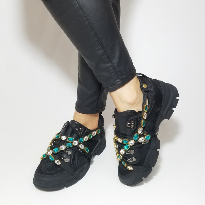 Incaltaminte Irina Black - Pantofi Sport 5