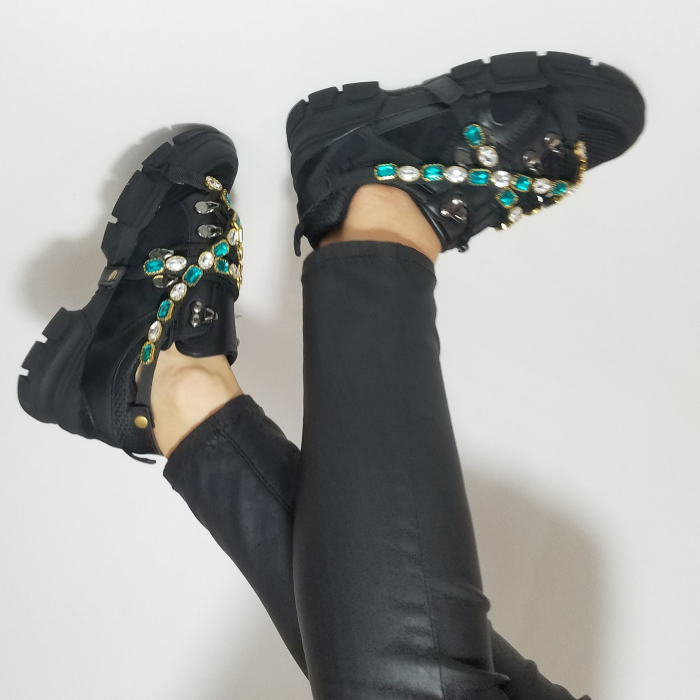 Incaltaminte Irina Black - Pantofi Sport 3