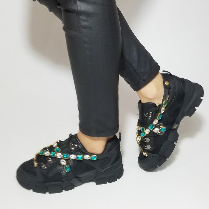 Incaltaminte Irina Black - Pantofi Sport 7