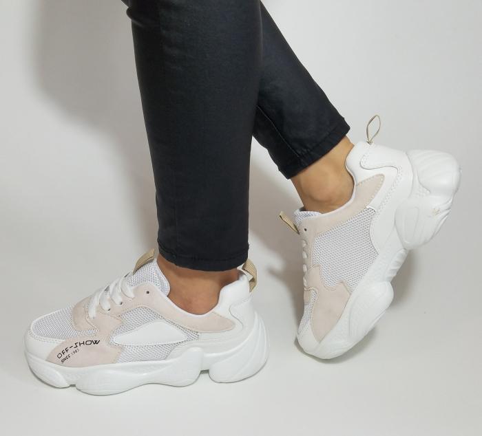 Incaltaminte Kalipso White - Pantofi Sport 1