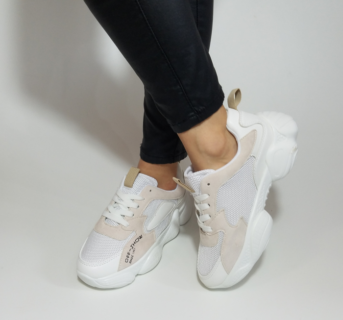 Incaltaminte Kalipso White - Pantofi Sport 2