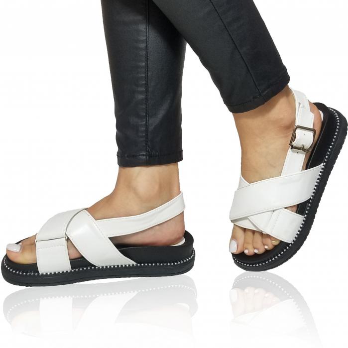 Incaltaminte Lora White -  Sandale 0