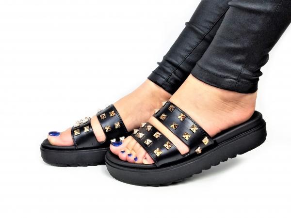 Incaltaminte Black Slippers 4