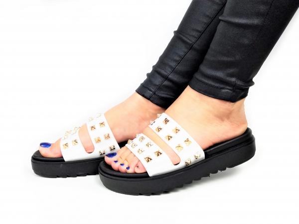 Incaltaminte White Slippers - Papuci 3
