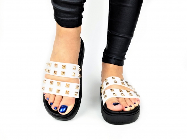 Incaltaminte White Slippers - Papuci 1