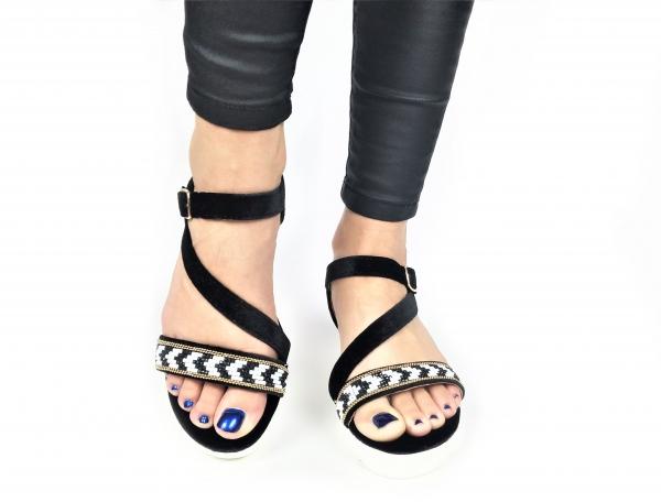 Incaltaminte Mendez Black - Sandale 4