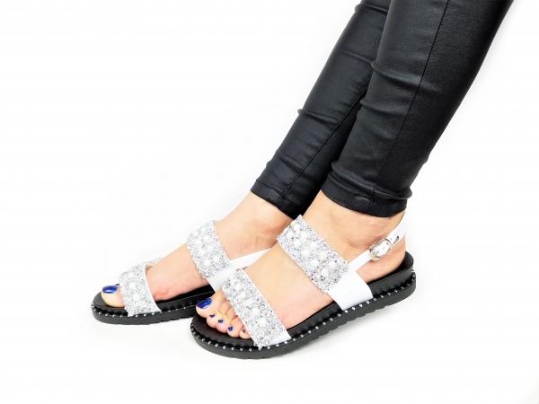 Incaltaminte Perla White - Sandale [3]