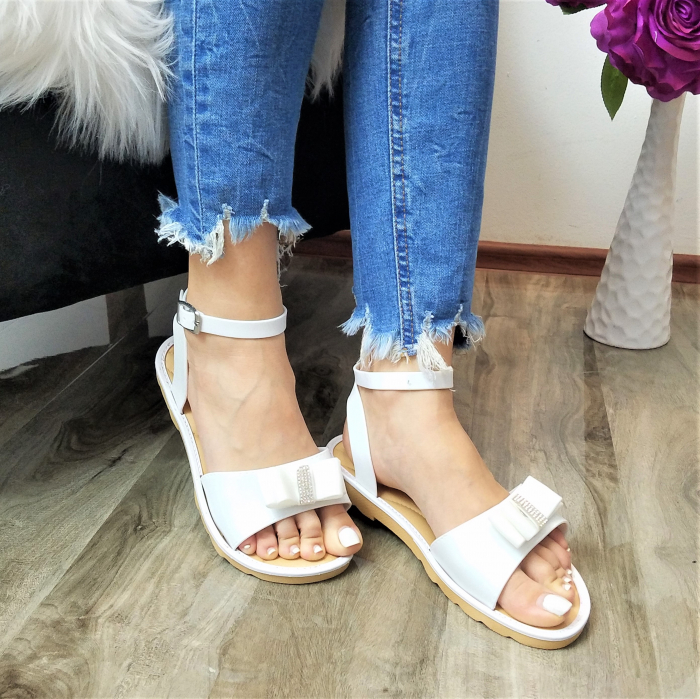 Incaltaminte Selly White - Sandale 2