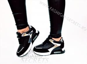 Incaltaminte Black Sparkle - Pantofi Sport0