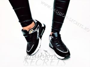 Incaltaminte Black Sparkle - Pantofi Sport1