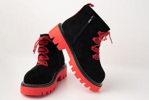 Incaltaminte Black Red - Ghete0