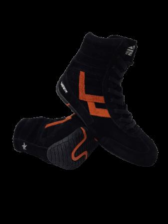 Incaltaminte Veer Black Orange3