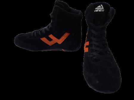 Incaltaminte Veer Black Orange1