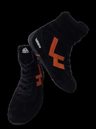 Incaltaminte Veer Black Orange4