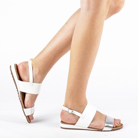 Incaltaminte Kamrin White - Sandale [0]