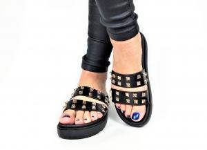 Incaltaminte Black Slippers0