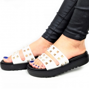 Incaltaminte White Slippers - Papuci0