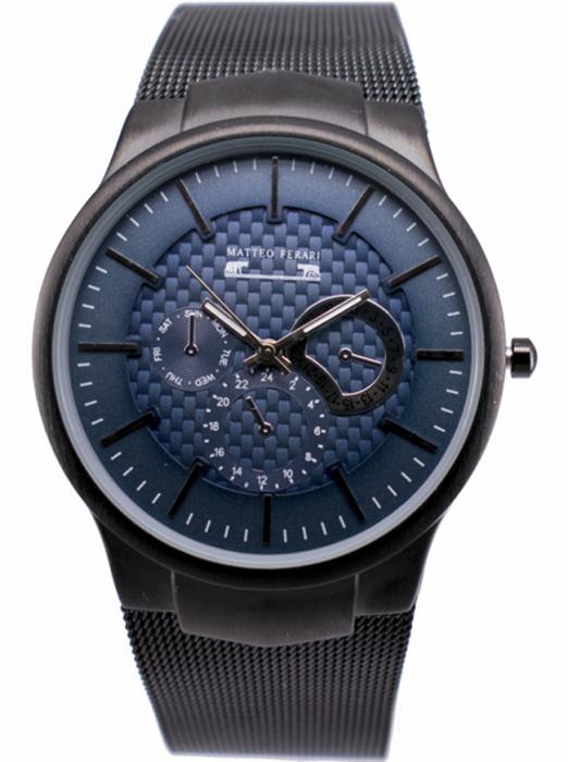 Ceas Barbatesc Matteo Ferari Black/Blue Elegant II [0]
