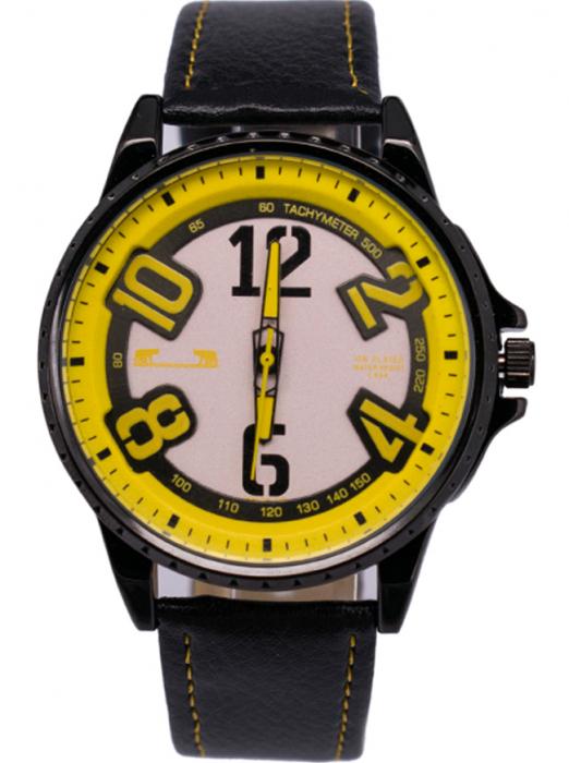 Ceas Barbatesc Matteo Ferari Black/Yellow Casual III [0]