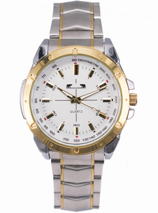 Ceas Barbatesc Matteo Ferari Gold&Silver/White Elegant V [0]