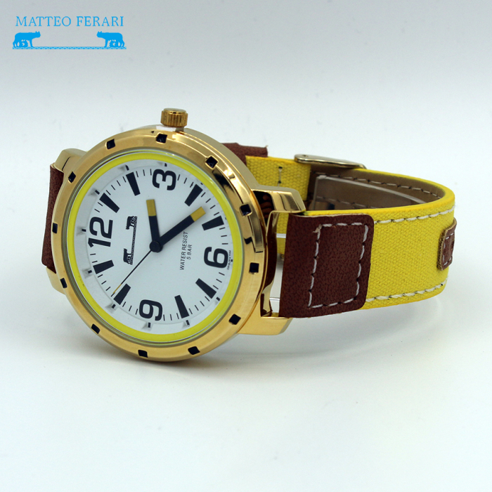 Ceas Barbatesc Matteo Ferari Yellow/Gold Casual VI [4]